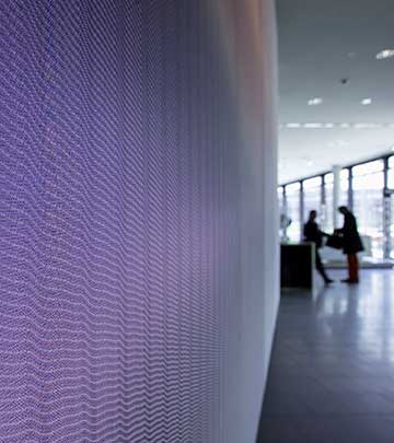 Luminous Textile med stoff fra Kvadrat Soft Cells