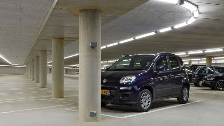 Pacific LED GreenParking-armatur – LED-belysning for parkeringshus